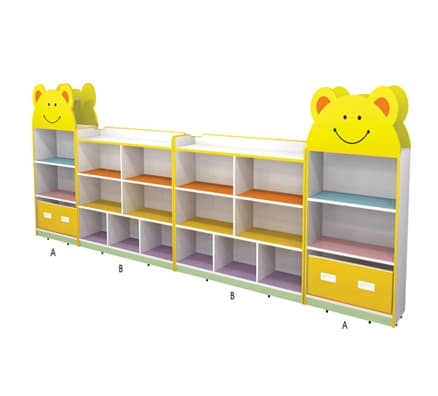 Gemma Dual Bear Shelves | kids storage furniture