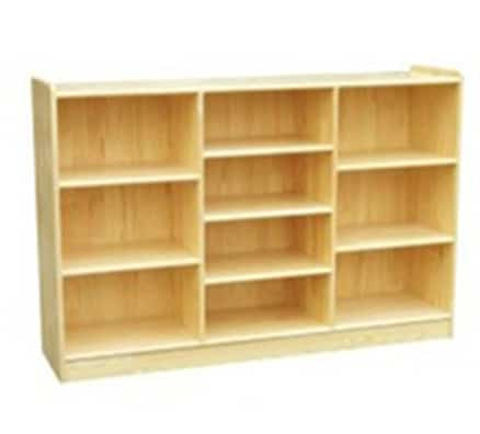 Woodland Classic Offset Shelves (10) - Natural | Kids Bedroom Storage
